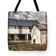 Barn Near Utica Mills Covered Bridge Tote Bag