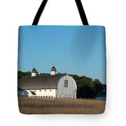 Barn On The Hill Tote Bag