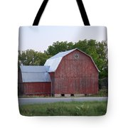 Barn On The Road Tote Bag