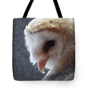 Barn Owl Painterly Tote Bag