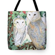 Barn Owls Tote Bag by Suzanne Bailey