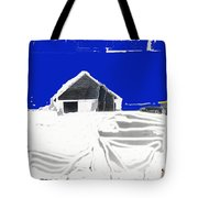 Barn Snow Storm Rc Guss Photo 1951 Collage St. Paul Park Minnesota Color Drawing Added Tote Bag