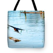 Barn Swallow In Flight Tote Bag