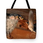 Barn Swallow Nest Tote Bag