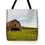 Barn On The Field Tote Bag