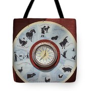Barn Yard Clock Tote Bag