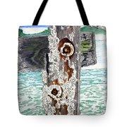 Barnacles And Rust Tote Bag