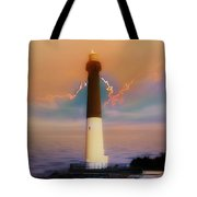Barnegat Lighthouse In New Jersey Tote Bag
