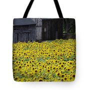 Barns And Sunflowers Tote Bag