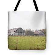 Barns In The Mist Tote Bag