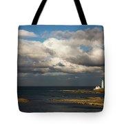 Barns Ness Lighthouse  East Lothian Tote Bag