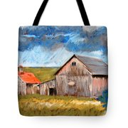 Barns On Maple Street Tote Bag