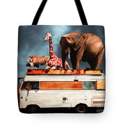 Barnum And Baileys Fabulous Road Trip Vacation Across The Usa Circa 2013 5d22705 With Text Tote Bag
