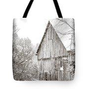 Barnyard Snowfall Tote Bag