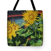 Barnyard Sunflowers Tote Bag