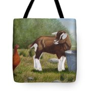 Barnyard Talk Tote Bag by Tammy Taylor