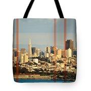 Barred City Tote Bag