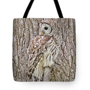 Barred Owl Camouflage Tote Bag
