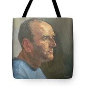 Barry, 2008 Oil On Canvas Tote Bag