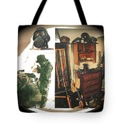 Barry Sadler And Part Of His Weapon's  Nazi Memorabilia Collection Collage Tucson Arizona 1971-2013 Tote Bag
