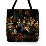 Bartholomeus Van Der Helst Banquet Of The Amsterdam Civic Guard In Celebration Of The Peace Of Munst Tote Bag