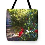 Bartram Red Flowers Tote Bag