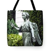 Barzaghi Memorial Side View II Detail Monumental Cemetery Tote Bag