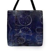 Baseball Patent Blue Tote Bag