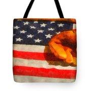 Baseball An American Pastime Tote Bag