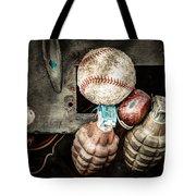 Baseball And Hand Grenades Tote Bag