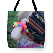 Baseball And Little Girls Tote Bag
