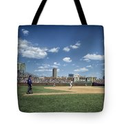 Baseball At Wrigley Field In The 1990s Tote Bag