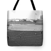 Baseball At Yankee Stadium Tote Bag by Underwood Archives