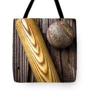 Baseball Bat And Ball Tote Bag