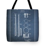 Baseball Bat By Lloyd Middlekauff - Vintage Patent Blueprint Tote Bag