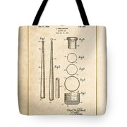 Baseball Bat By Lloyd Middlekauff - Vintage Patent Document Tote Bag