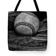 Baseball Broken In Black And White Tote Bag