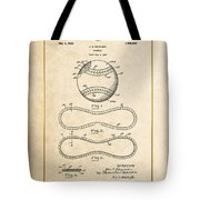 Baseball By John E. Maynard - Vintage Patent Document Tote Bag