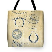 Baseball Construction Patent 2 - Vintage Tote Bag