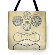 Baseball Construction Patent - Vintage Tote Bag