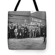 Baseball Fans Waiting In Line To Buy World Series Tickets. Tote Bag