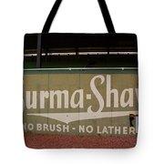 Baseball Field Burma Shave Sign Tote Bag
