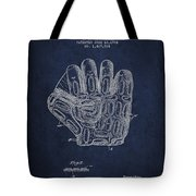 Baseball Glove Patent Drawing From 1924 Tote Bag