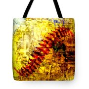 Baseball Impression Tote Bag