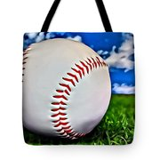 Baseball In The Grass Tote Bag
