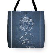 Baseball Mitt By Archibald J. Turner - Vintage Patent Blueprint Tote Bag