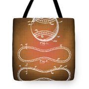 Baseball Patent Blueprint Drawing Sepia Tote Bag