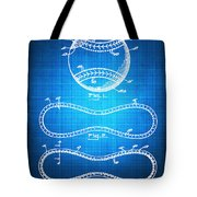 Baseball Patent Blueprint Drawing Tote Bag