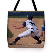 Baseball Pick Off Attempt Tote Bag