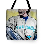 Baseball Player Tote Bag by First Star Art